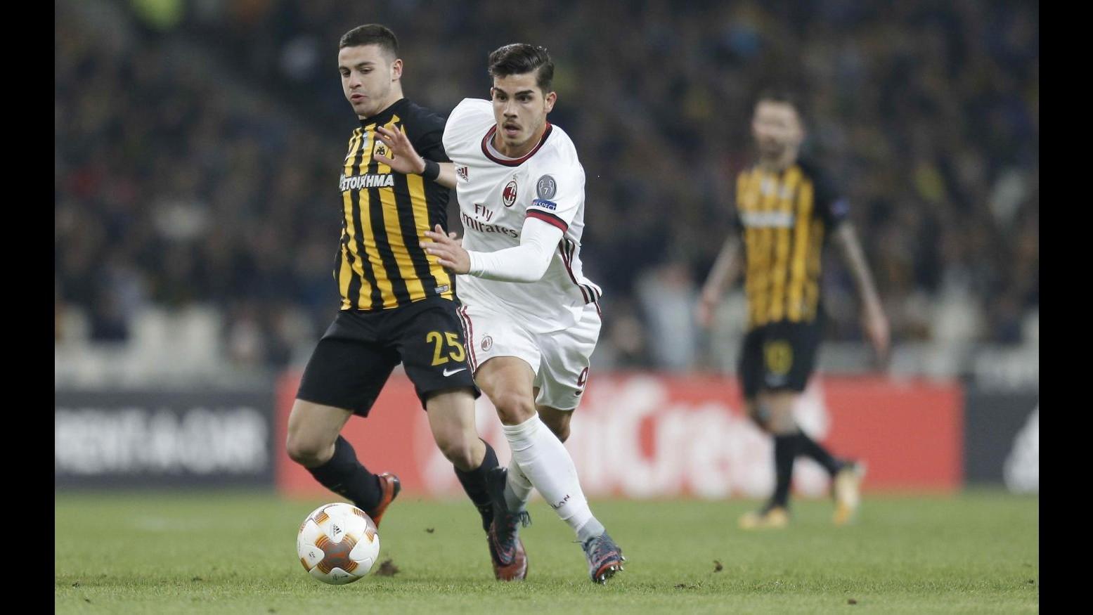 Europa League, Milan sbatte contro muro Aek: 0-0 ad Atene, rossoneri primi