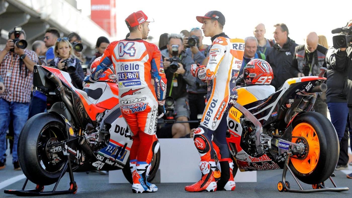 MotoGp, prove libere a Valencia. Dovizioso terzo, Marquez quinto