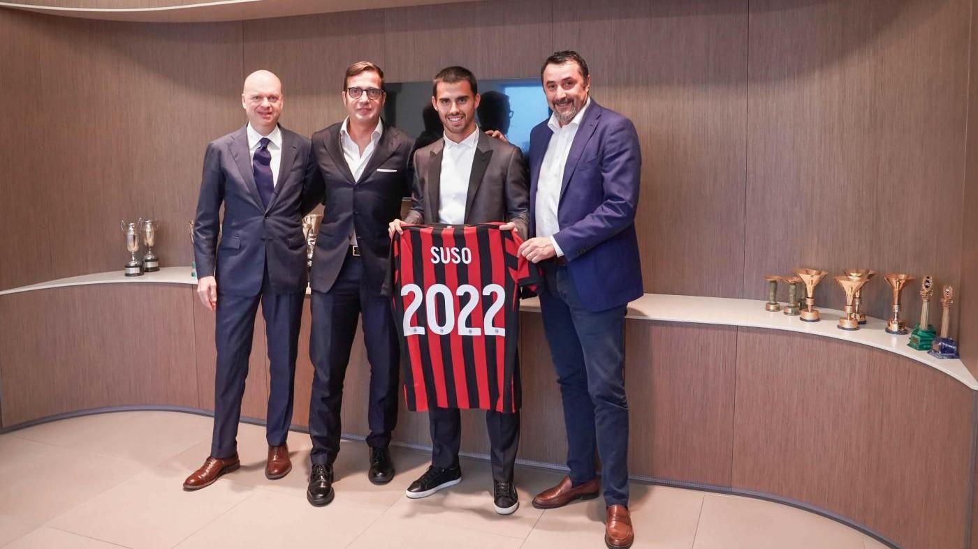 Milan: il rinnovo di Suso è ufficiale, ha firmato fino al 2022