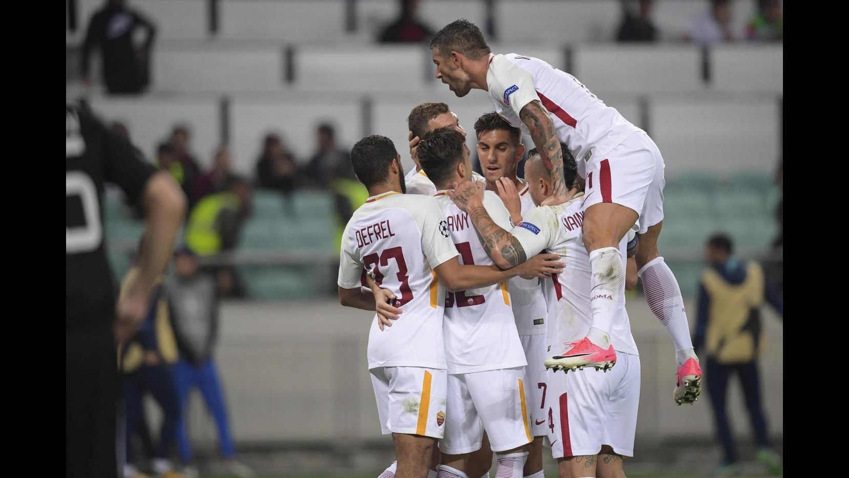 Champions League, Qarabag-Roma 1-2: il fotoracconto