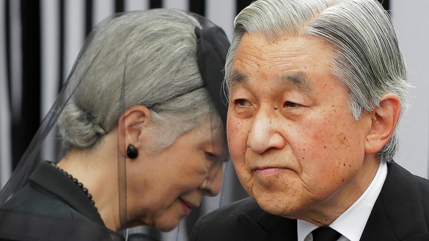 Giappone, l'imperatore Akihito abdicherà il 30 aprile 2019