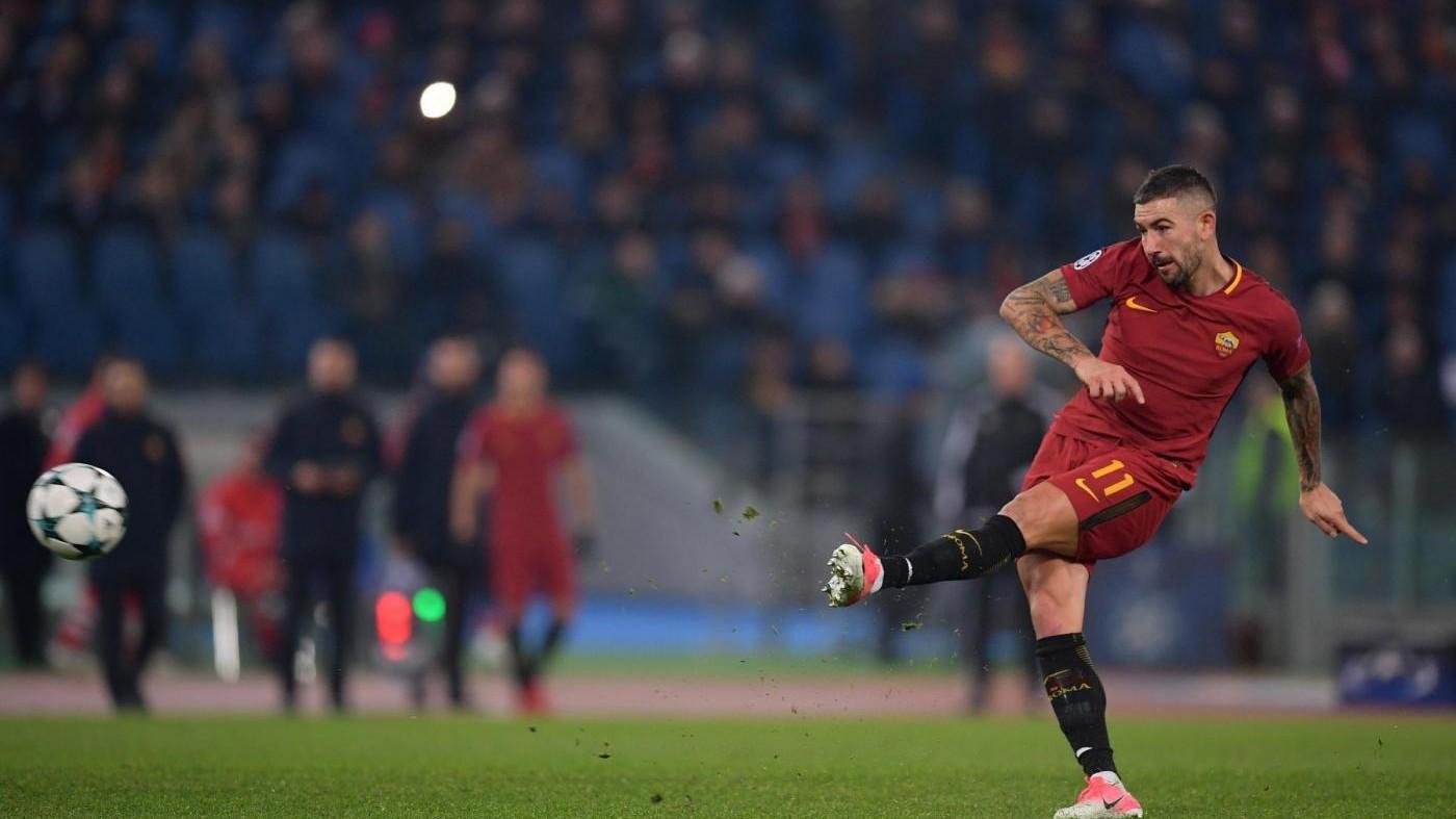 Perotti risolve il problema Qarabag. Roma agli ottavi e prima nel girone