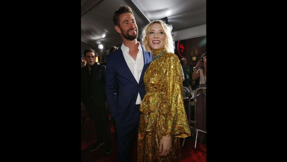 Cate Blanchett e Chris Hemsworth ©LaPresse/Reuters