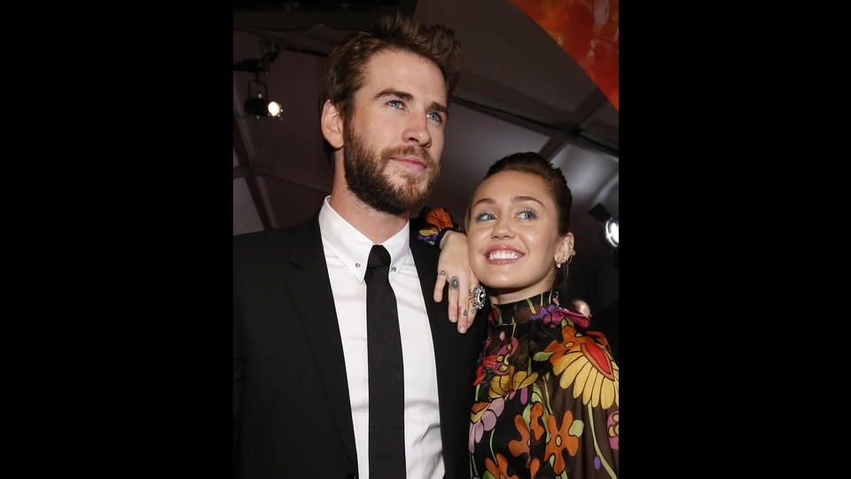 Liam Hemsworth e Miley Cyrus ©LaPresse/Reuters