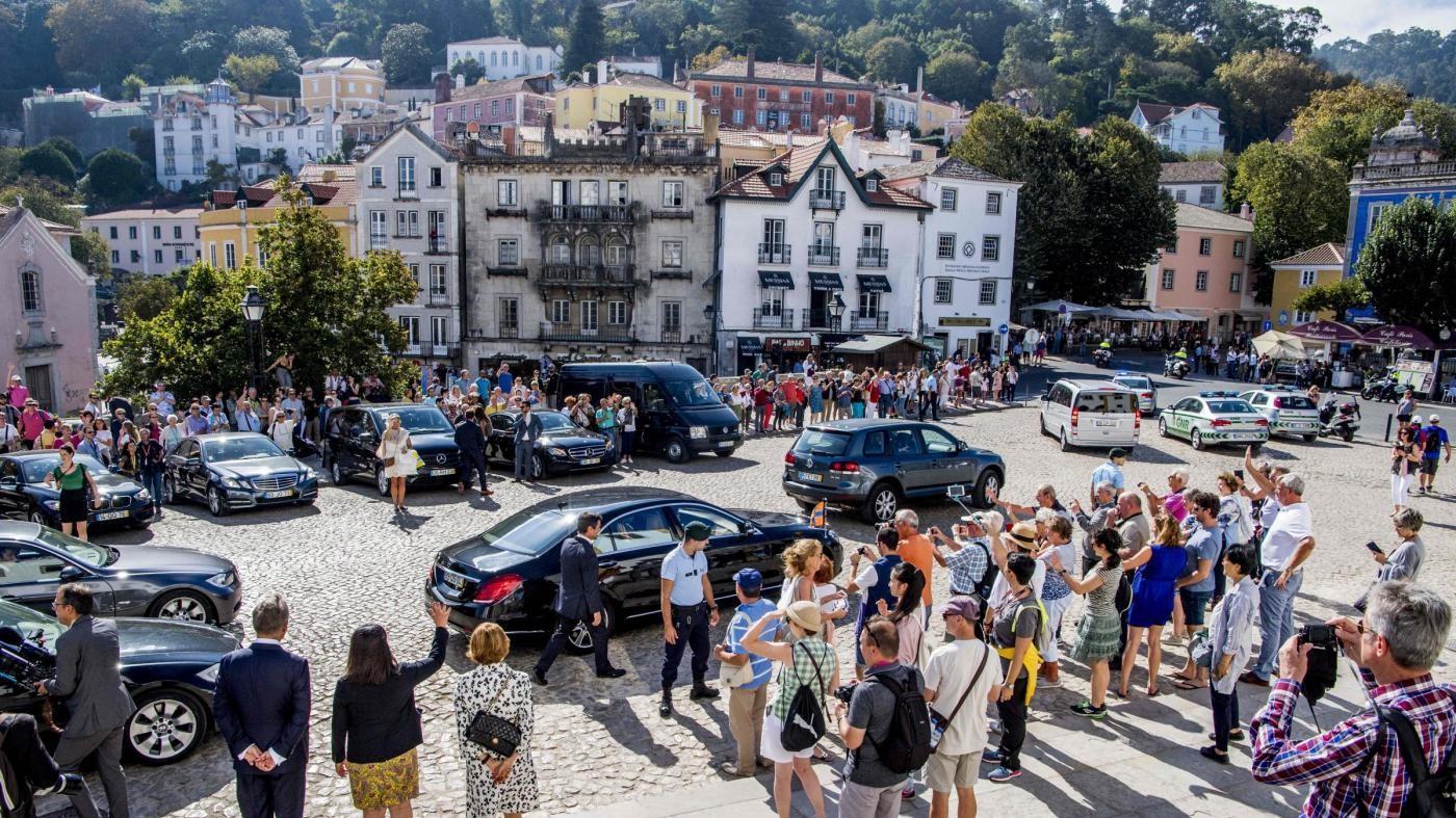 Turisti reali: il re e la regina olandesi visitano Lisbona