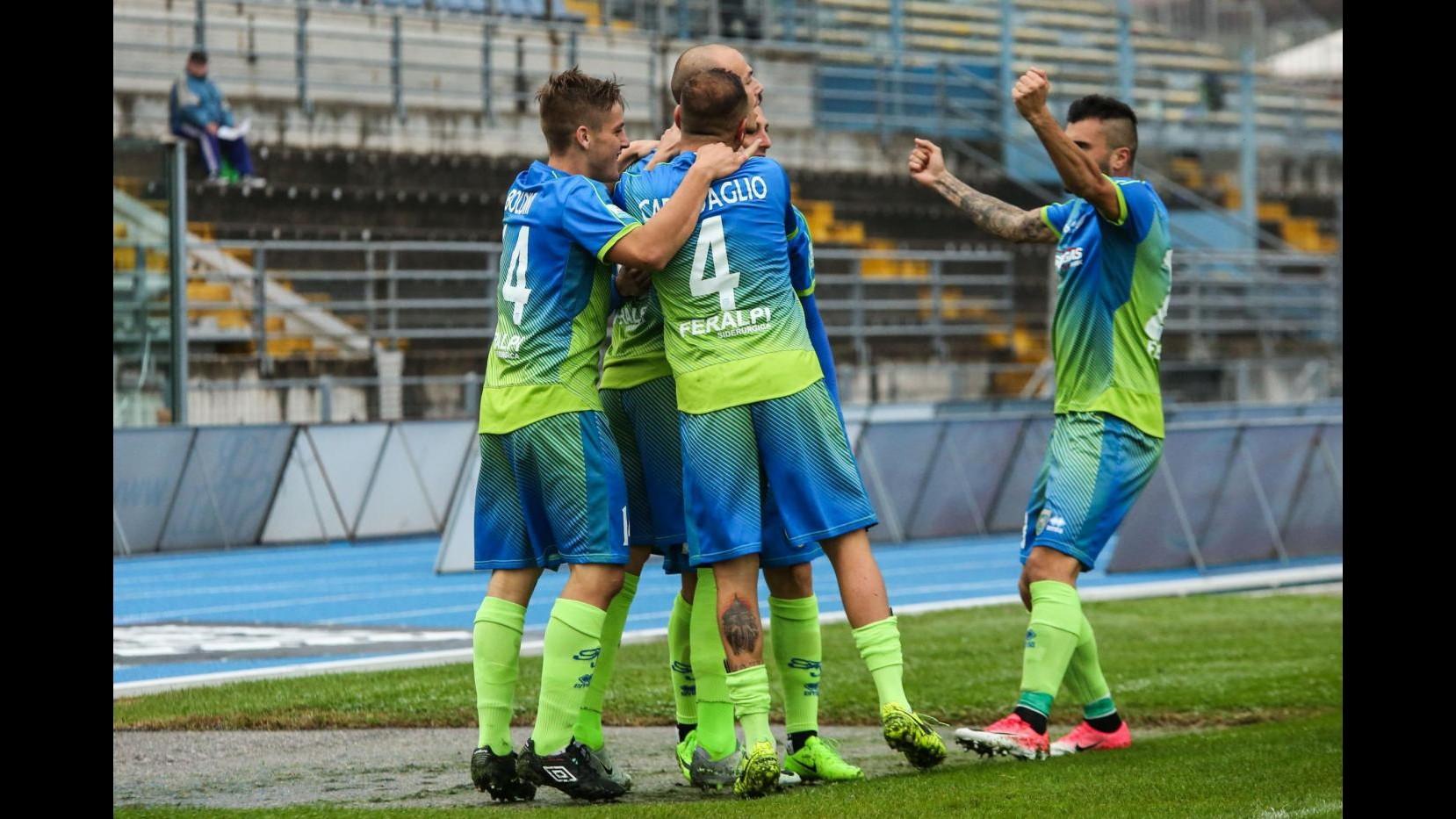 Serie C, FeralpiSalò-Gubbio 2-1