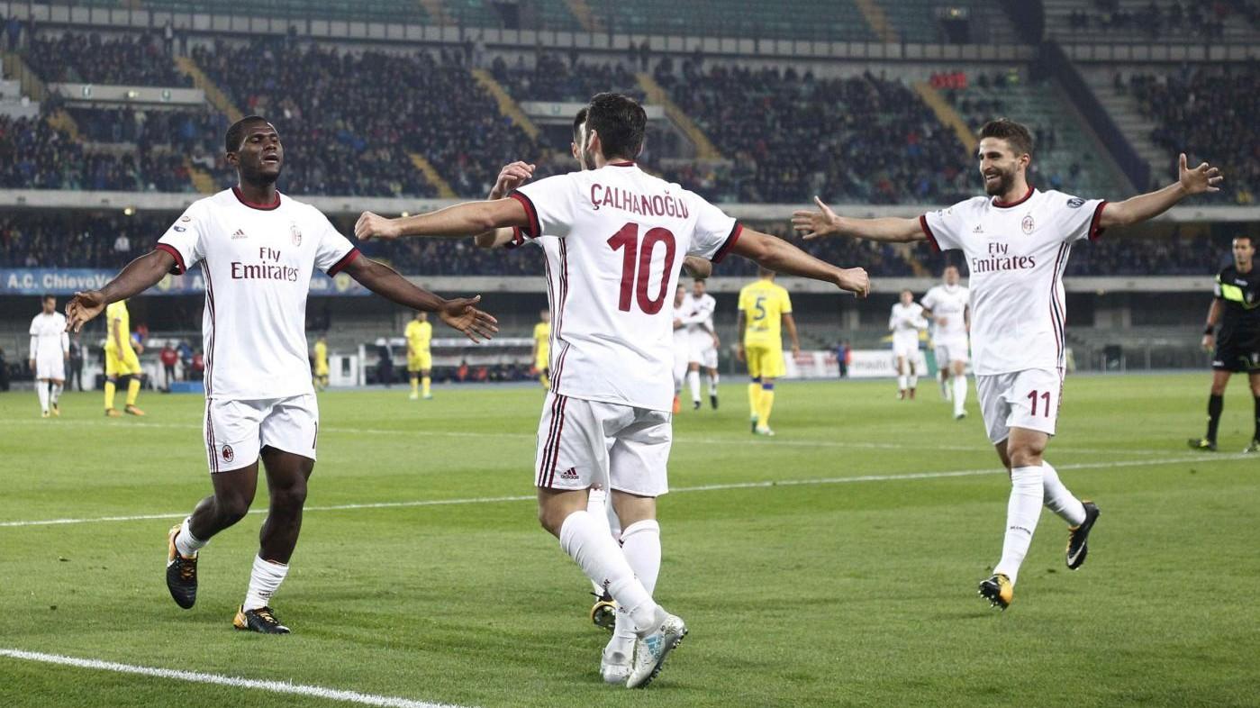 Serie A, Chievo-Milan finisce 1-4: poker rossonero