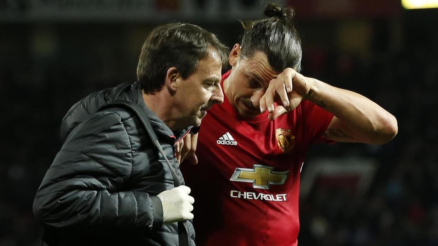 United, Mourinho: Temo che l'infortunio di Ibrahimovic sia serio