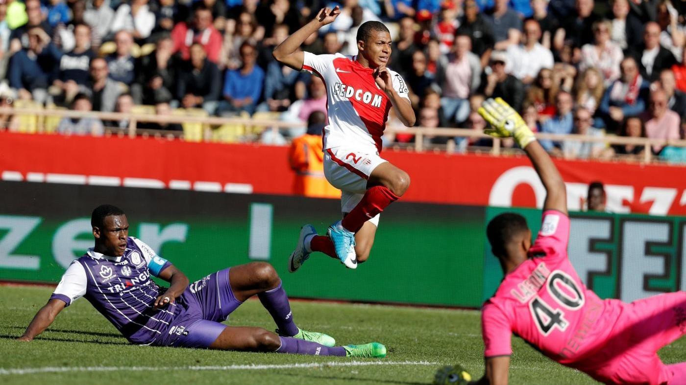 Il Monaco 'avverte' la Juve: 3-1 al Tolosa con gol Glik e Mbappé