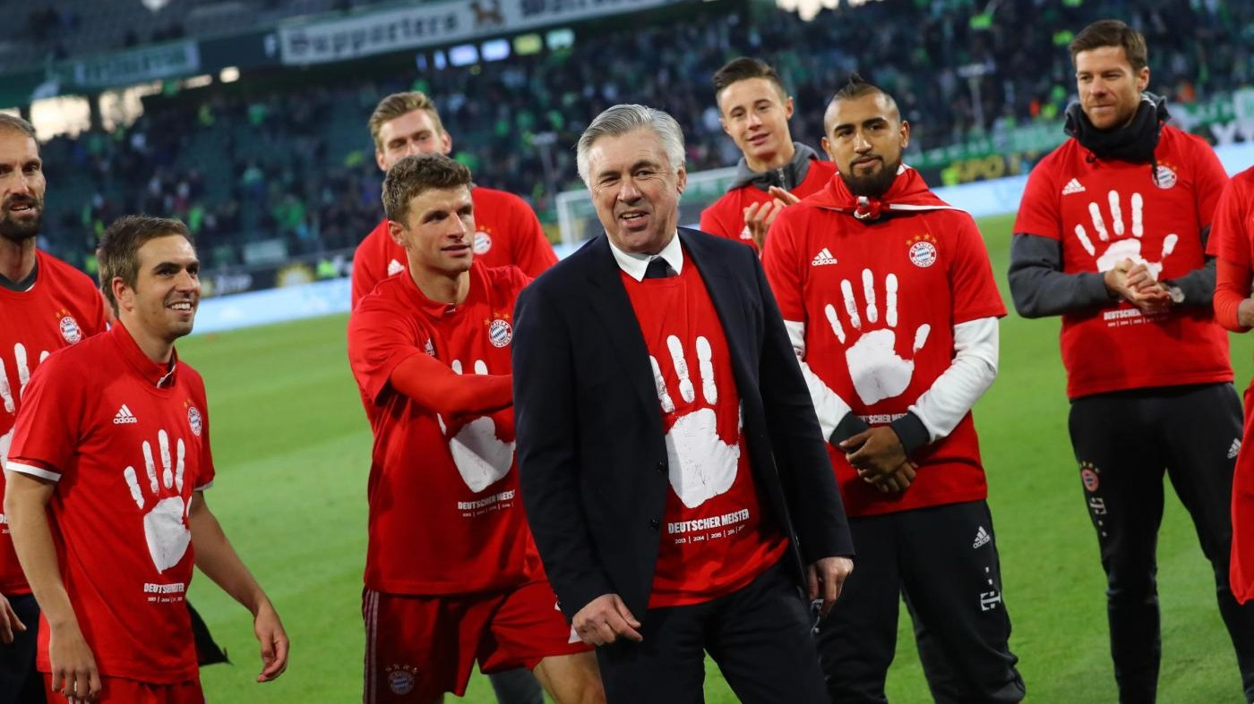 Il Bayern Monaco travolge il Wolfsburg: Ancelotti vince la Bundesliga