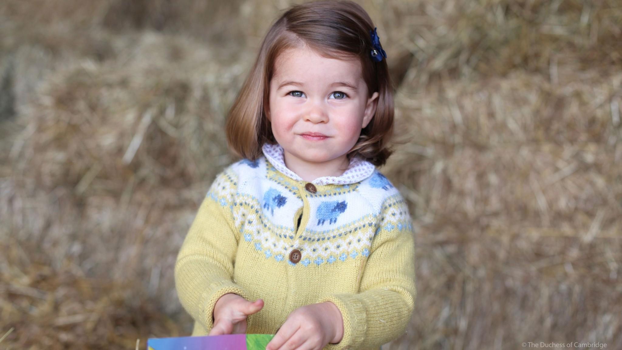 Charlotte compie 2 anni, William e Kate pubblicano foto della figlia