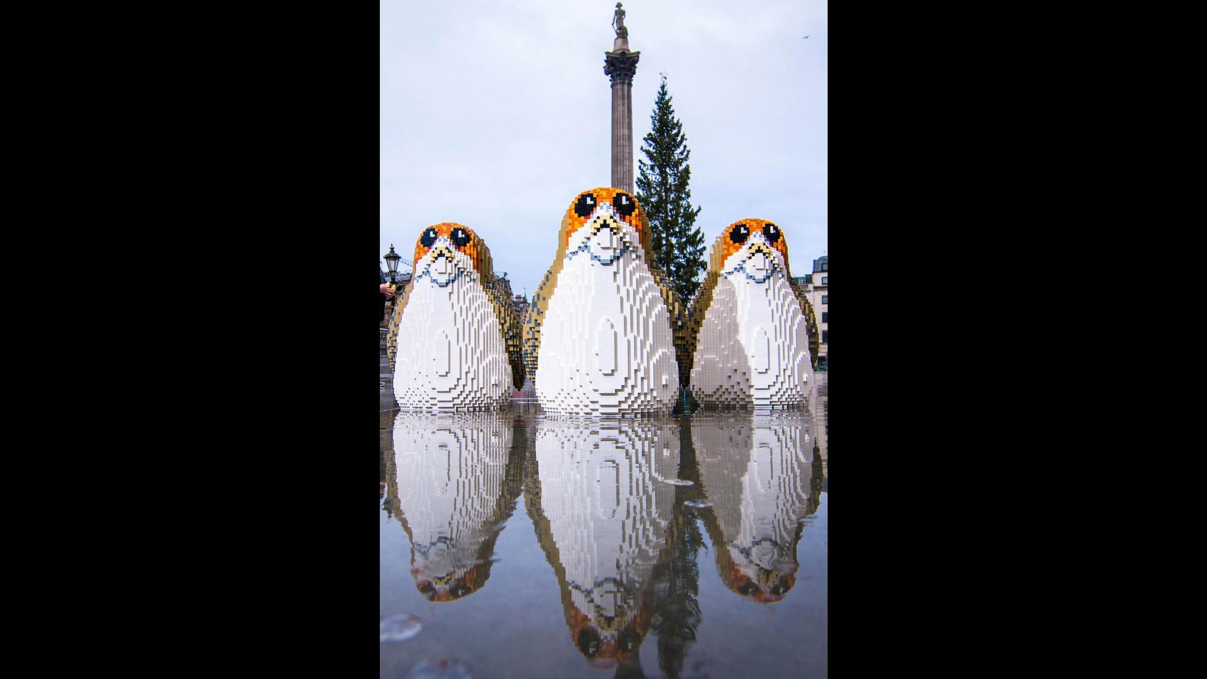 "Star Wars, è Porg-mania a Londra dopo ""Gli ultimi jedi"""