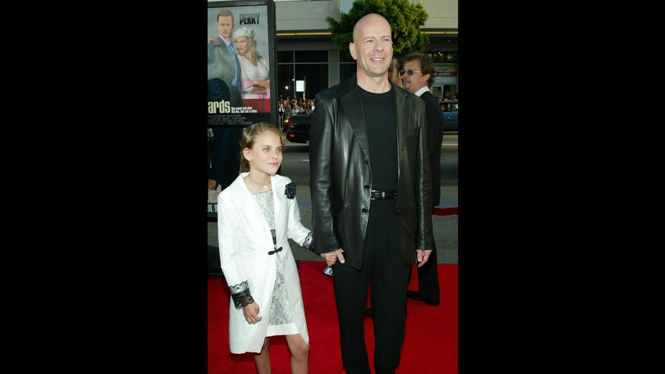 Nel 2004, con papà Bruce Willis alla premiere mondiale di 'The Whole Ten Yards' ©Lisa O'Connor