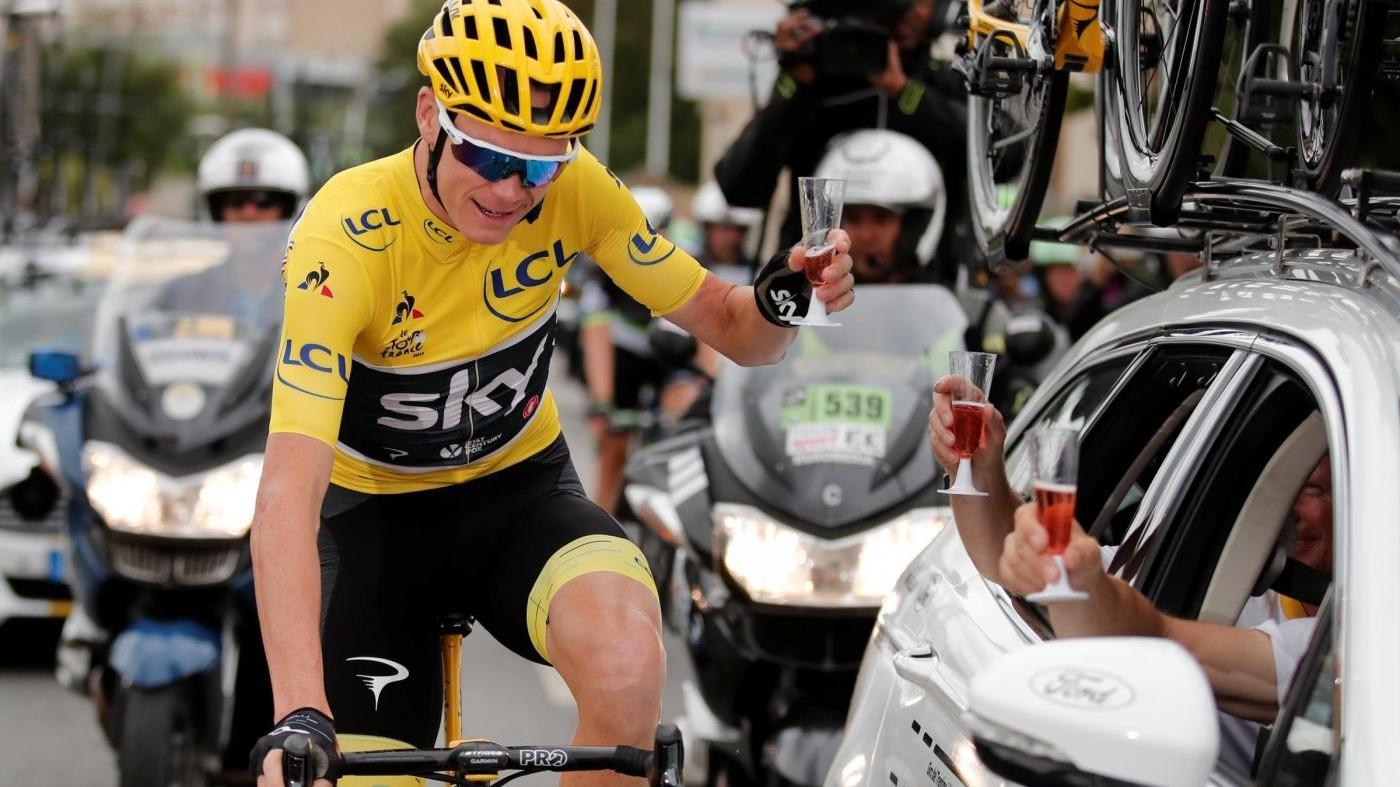 """Froome, quarto trionfo al Tour. """"Fiero di essere nella storia"""""""