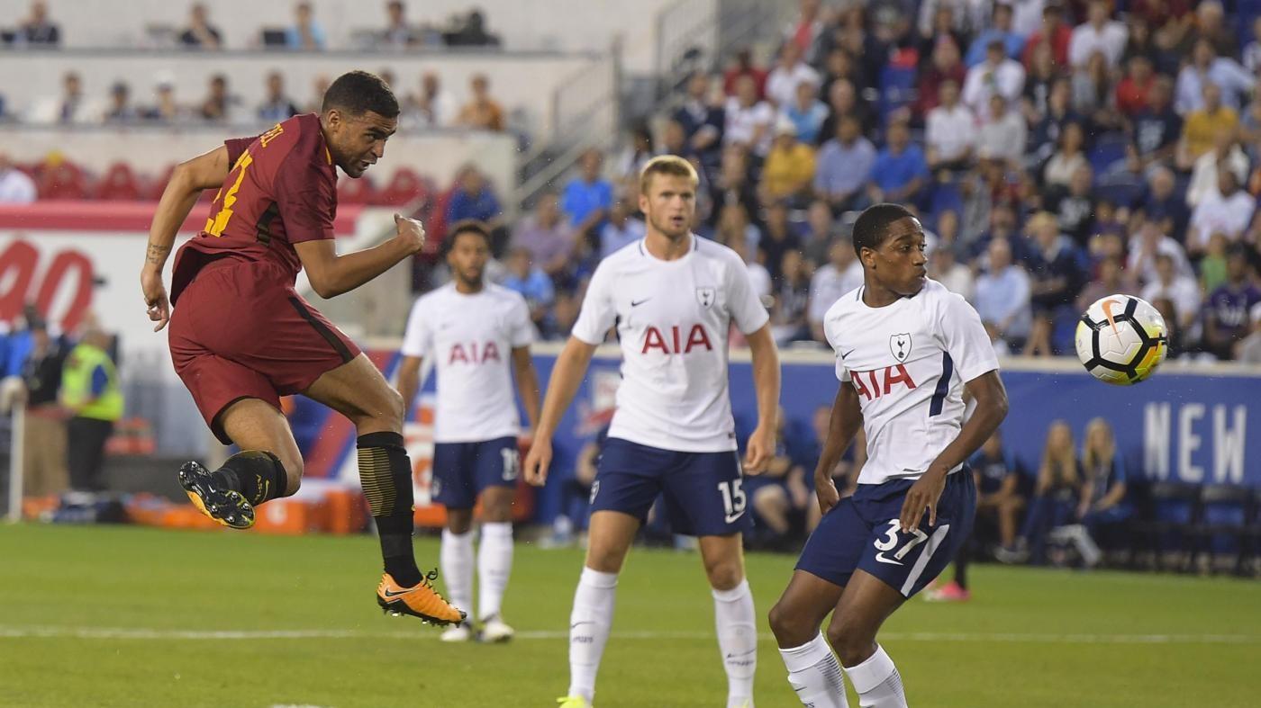 """Bella Roma, battuto il Tottenham in New Jersey. Di Francesco: """"Mi è piaciuta tanto"""""""