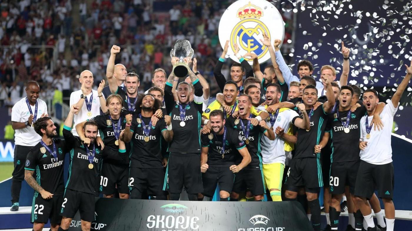 Supercoppa europea, di nuovo Real. Battuto (2-1) il Manchester United