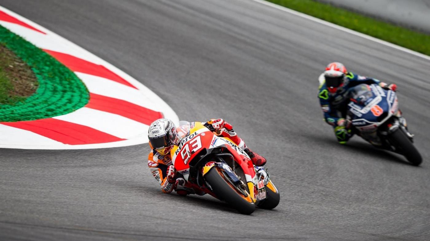 MotoGp in Austria, Marquez leader nelle terze libere
