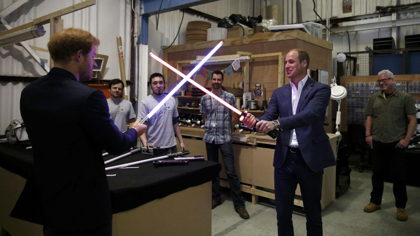 Gli ultimi Jedi, le comparse sono reali: William e Harry reciteranno in Star Wars