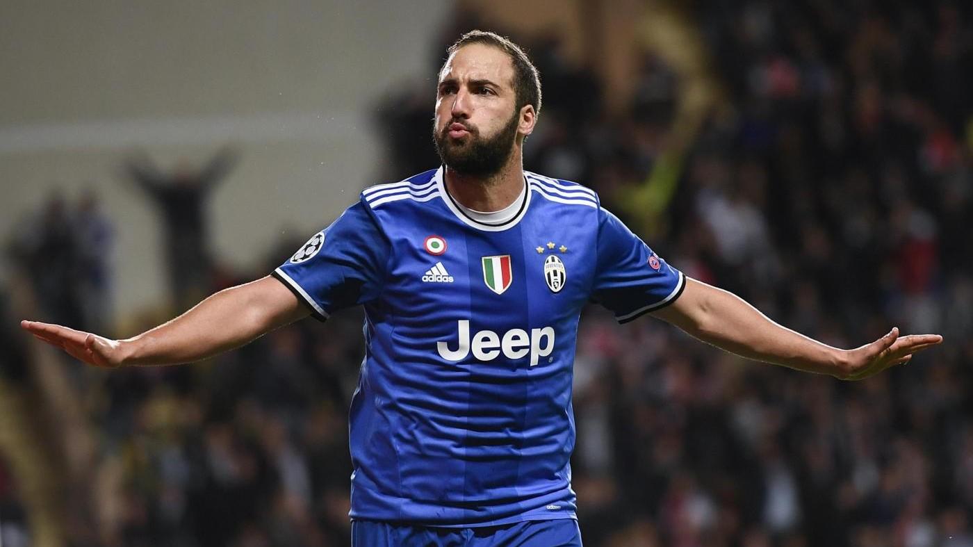 Juve-Monaco, per i bookmaker Higuain al top: doppietta vale 13,50