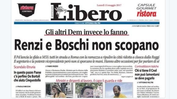 'Renzi e Boschi non sc…': nuova polemica sul titolo di 'Libero'