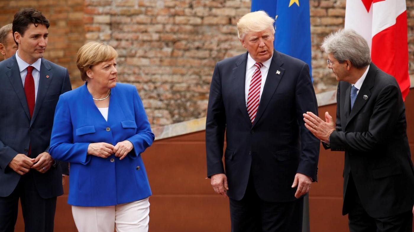 G7, 'tedeschi cattivi': giallo su parole Trump, poi il chiarimento
