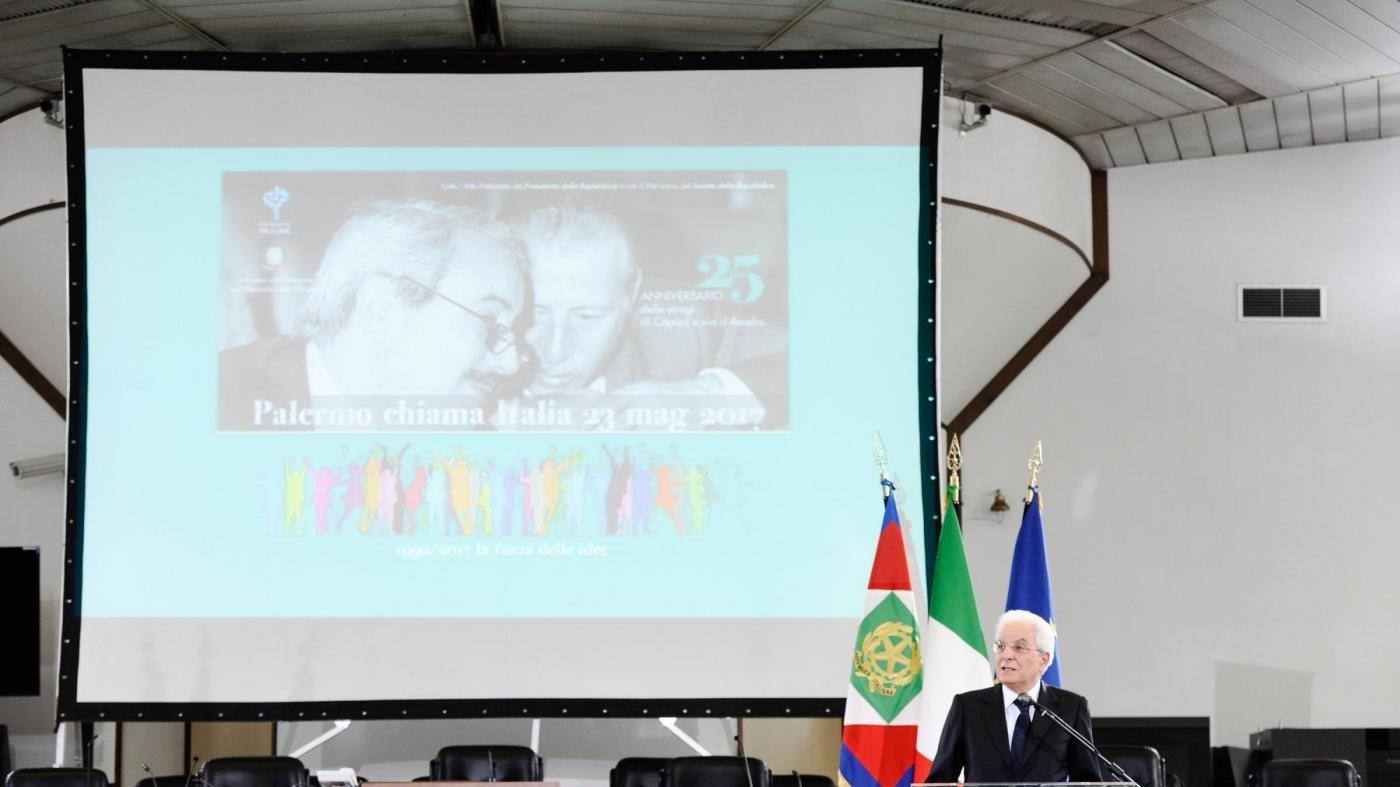 Palermo, cerimonia all'aula bunker in ricordo delle stragi di Capaci e via D'Amelio
