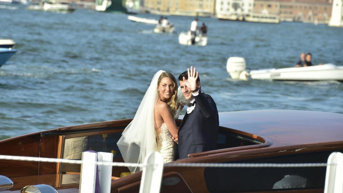 Lo splendido matrimonio tra Morata e Alice a Venezia
