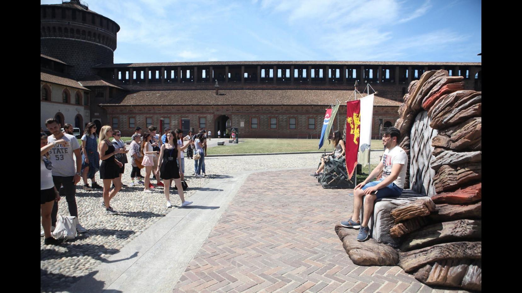 FOTO Il Castello Sforzesco diventa set del 'Trono di Spade'