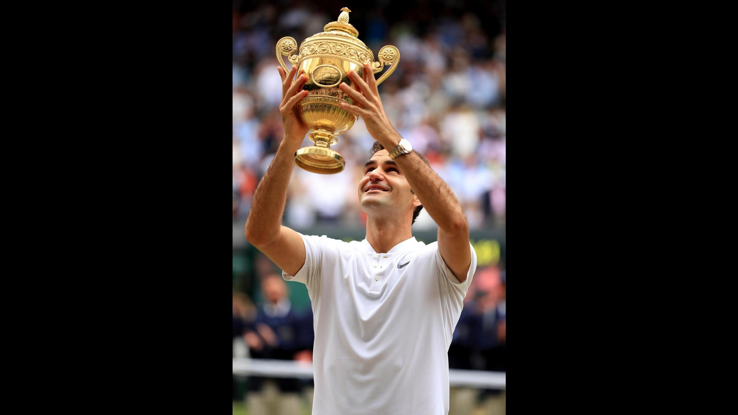 FOTO Wimbledon, Federer re per l'ottava volta, Cilic in lacrime