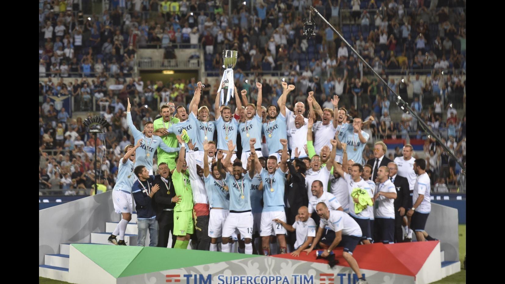FOTO Supercoppa 2017, la vittoria della Lazio