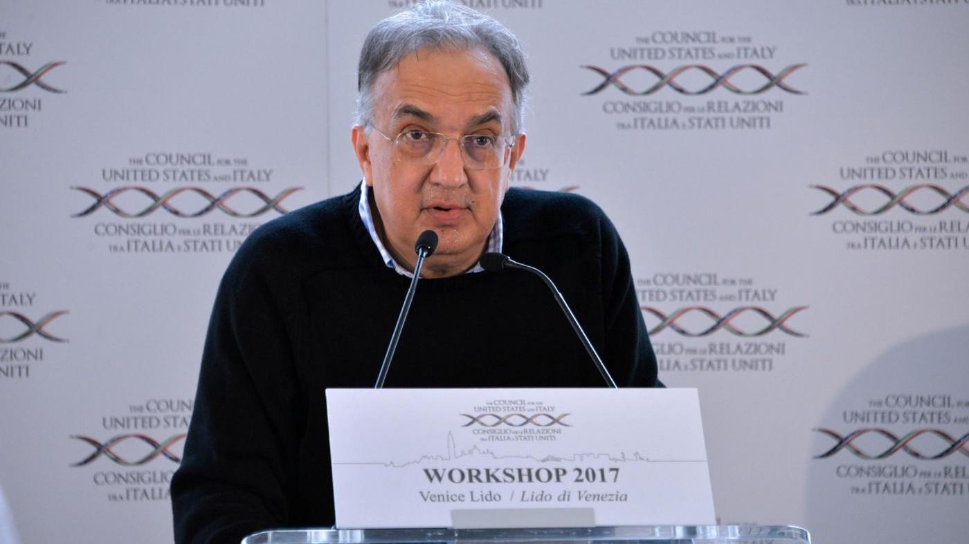 Fca, Marchionne: Resta obiettivo piena occupazione Italia a fine 2018