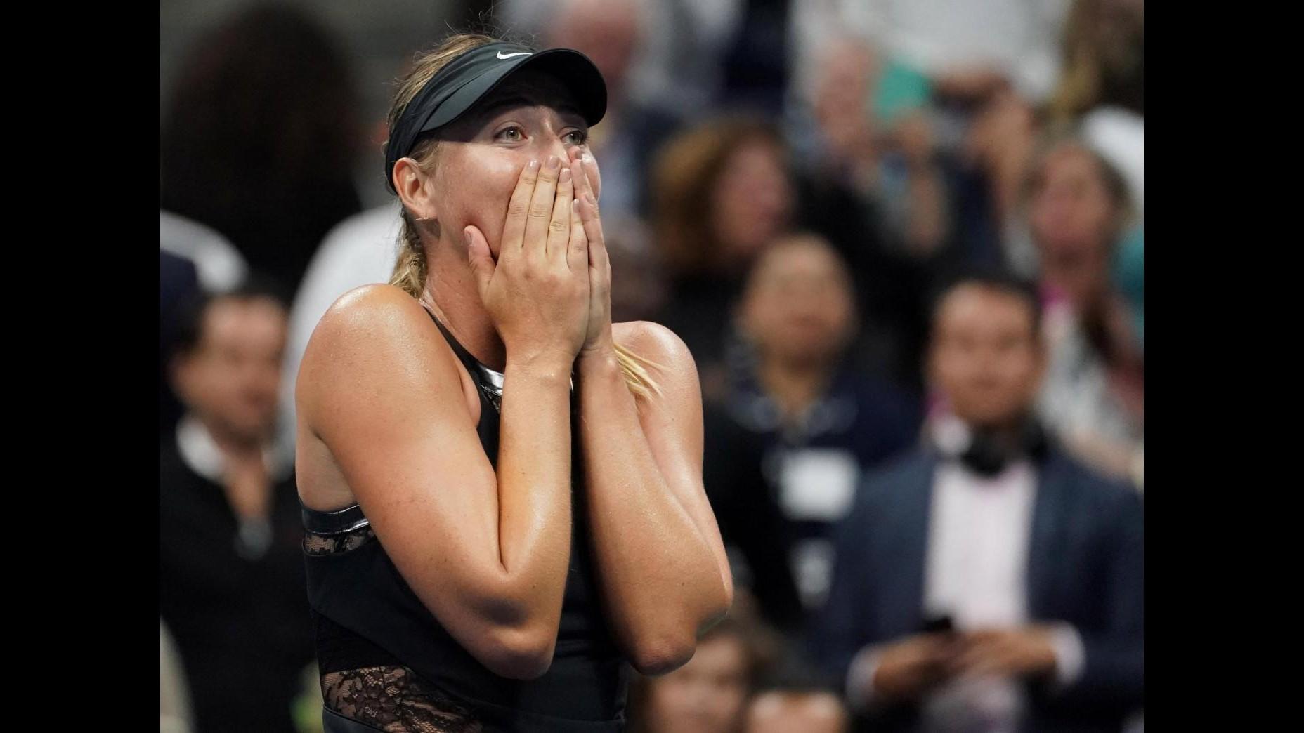 Tennis, Us Open: Sharapova doma Halep 2-1, avanti anche Wozniacki