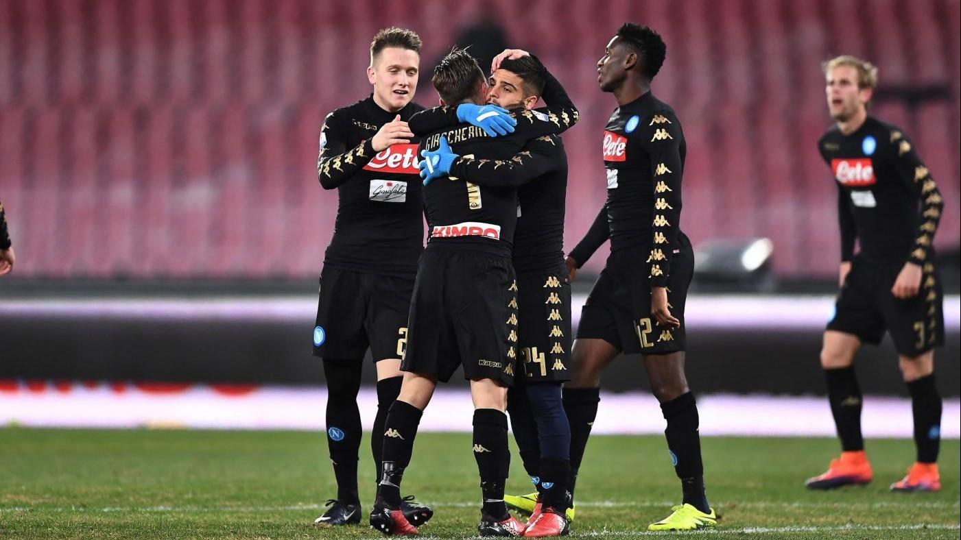 Coppa Italia, Napoli passa ai quarti: Spezia ko 3-1 al San Paolo
