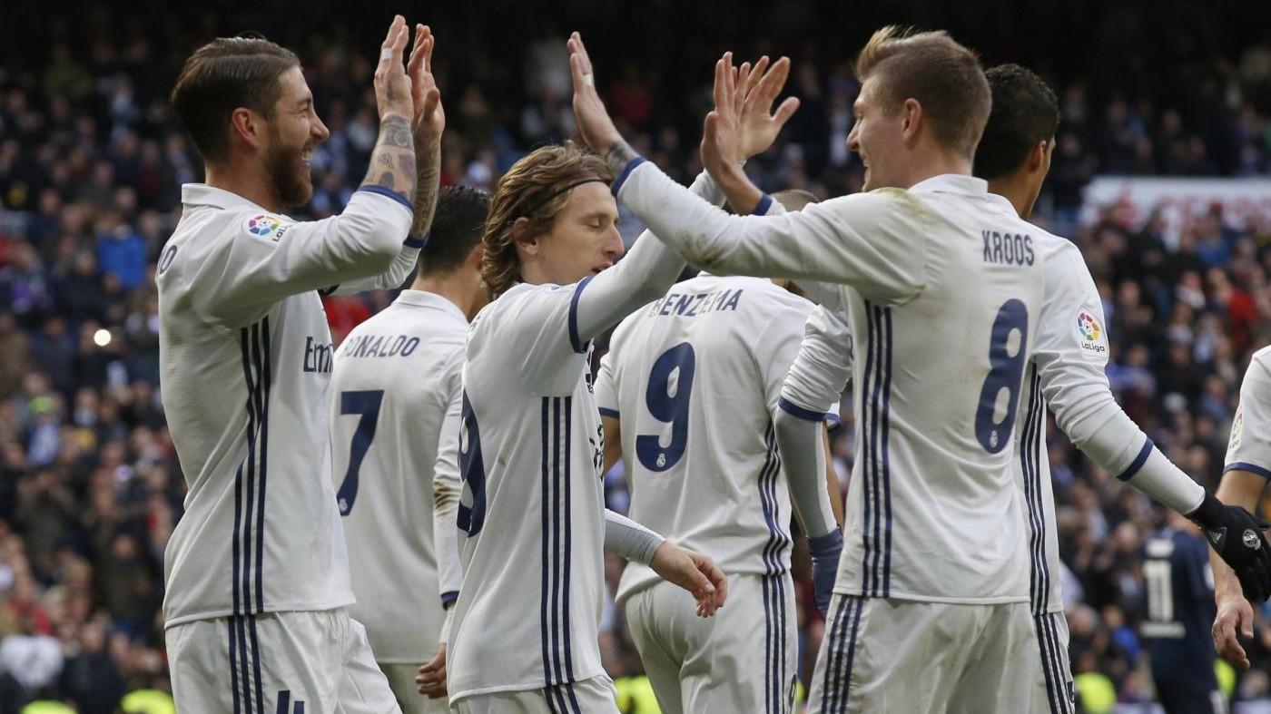 Liga, Real Madrid-Malaga 2-1: decide Sergio Ramos