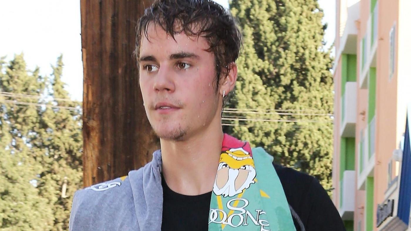 Justin Bieber sudatissimo dopo l'allenamento
