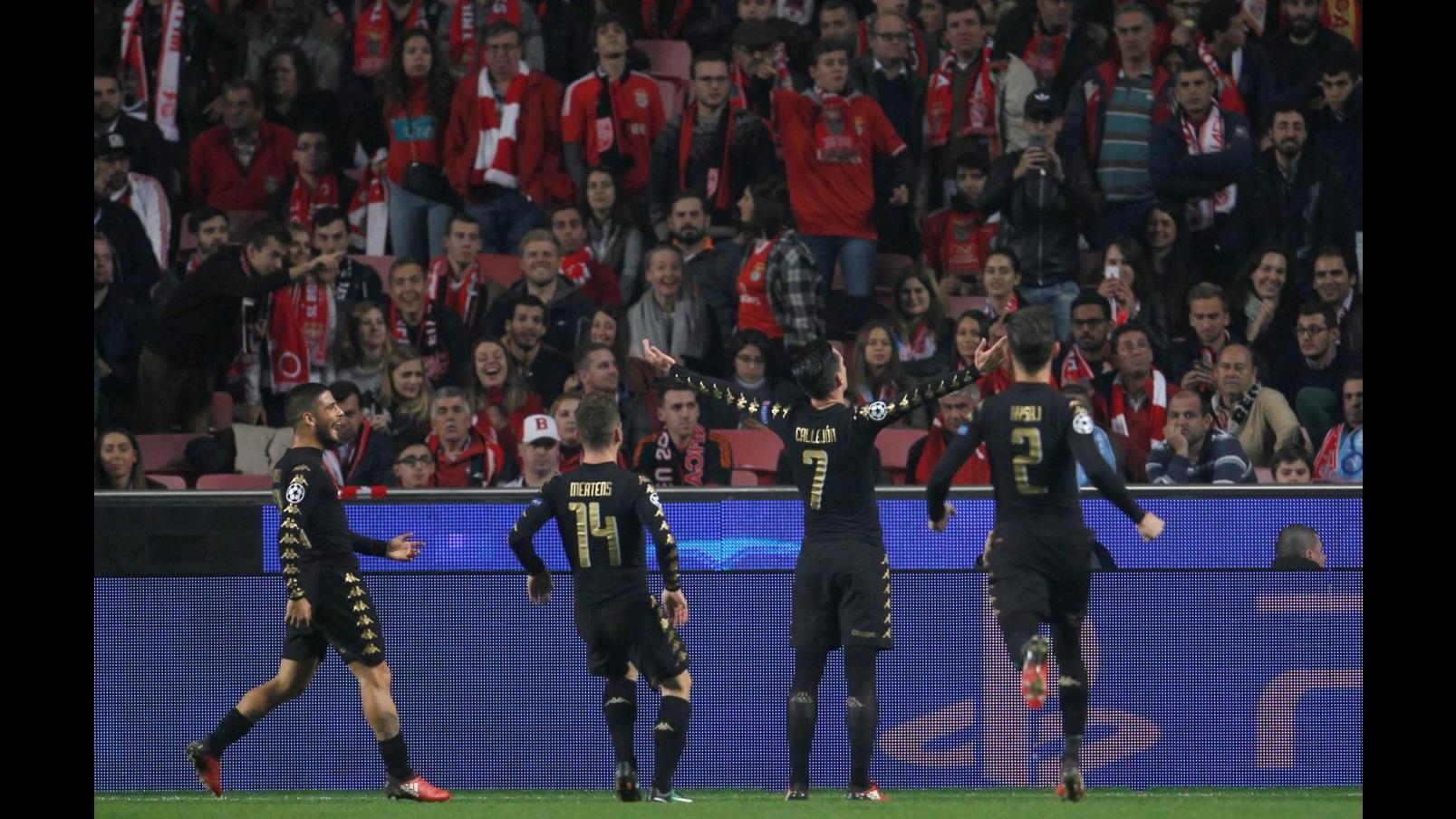 FOTO Champions, Napoli batte Benfica e vince il girone