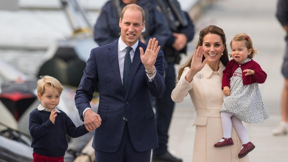 Il duca e la duchessa di Cambridge William e Kate in Canada con il principino George e la principessaCharlotte ©LaPresse/PA