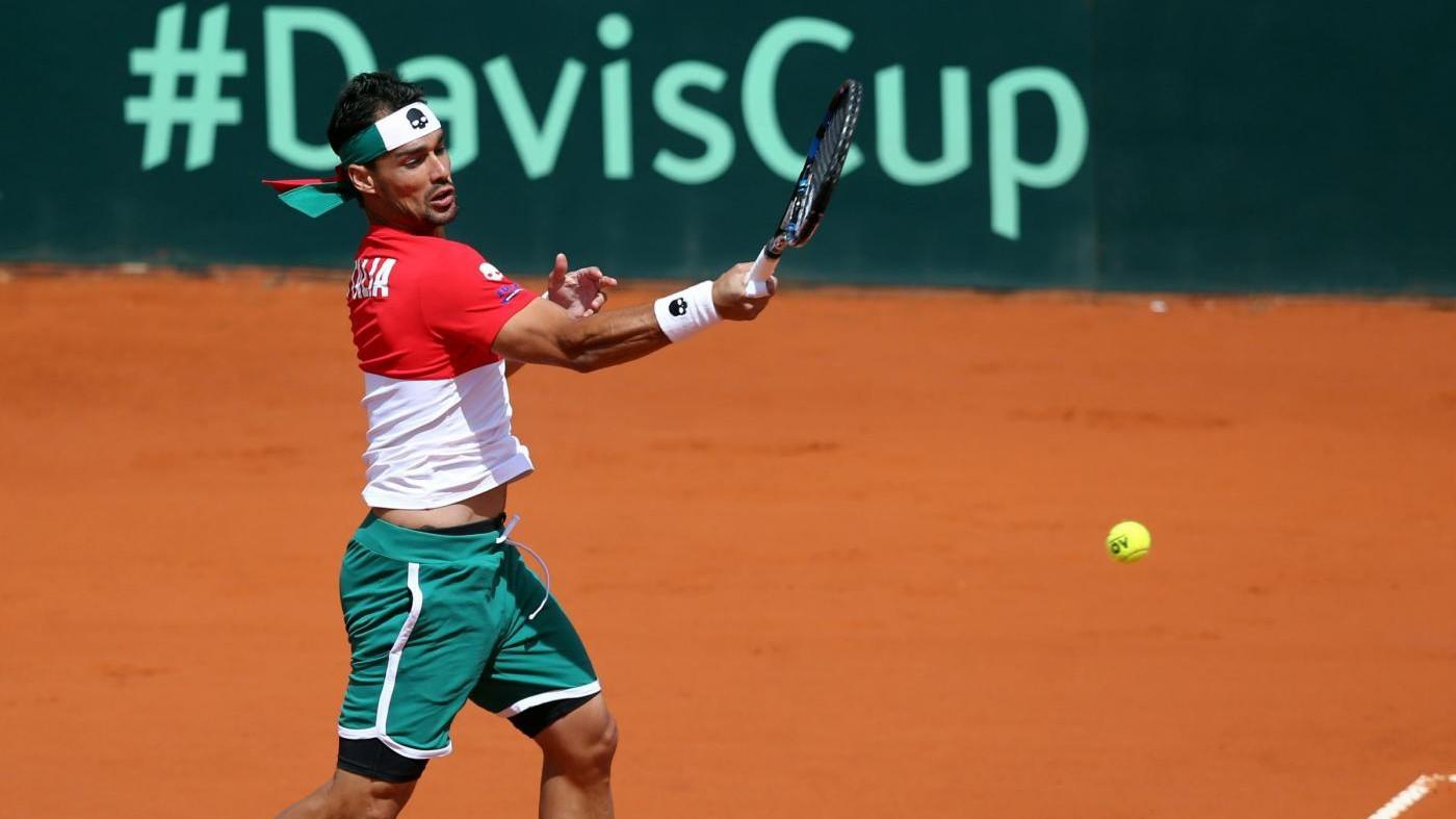 Coppa Davis, l'Italia va ai quarti: Fognini batte Pella al 5° set