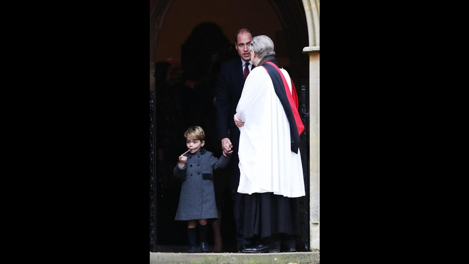 William e il piccolo George ©LaPresse/PA