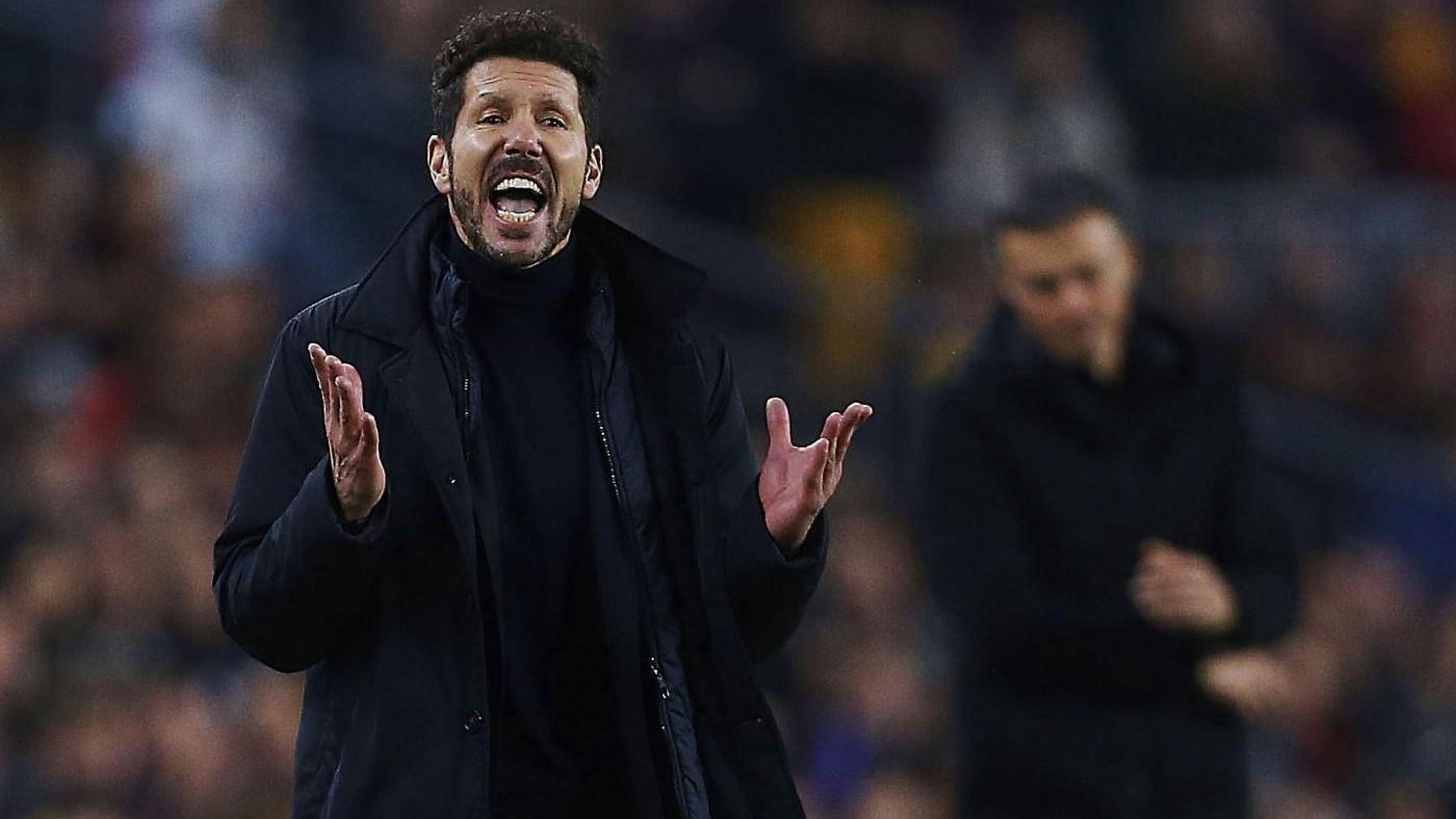 Atletico, Simeone polemico: In Champions abbiamo più chance