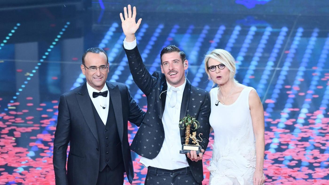 Sanremo, vince Gabbani: volano ascolti, share al 58,4%