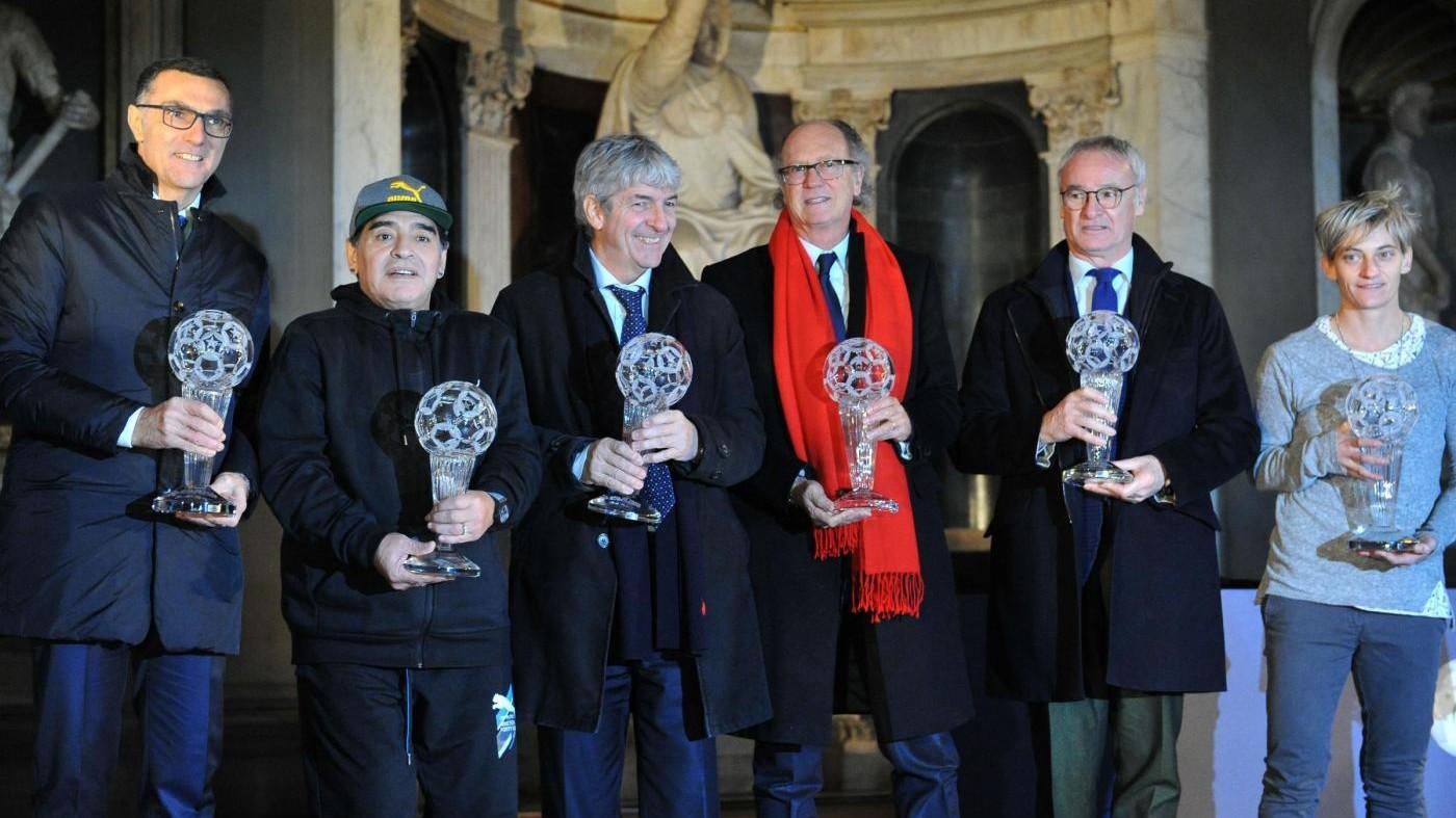 Rossi, Ranieri e Maradona premiati alla Hall of fame
