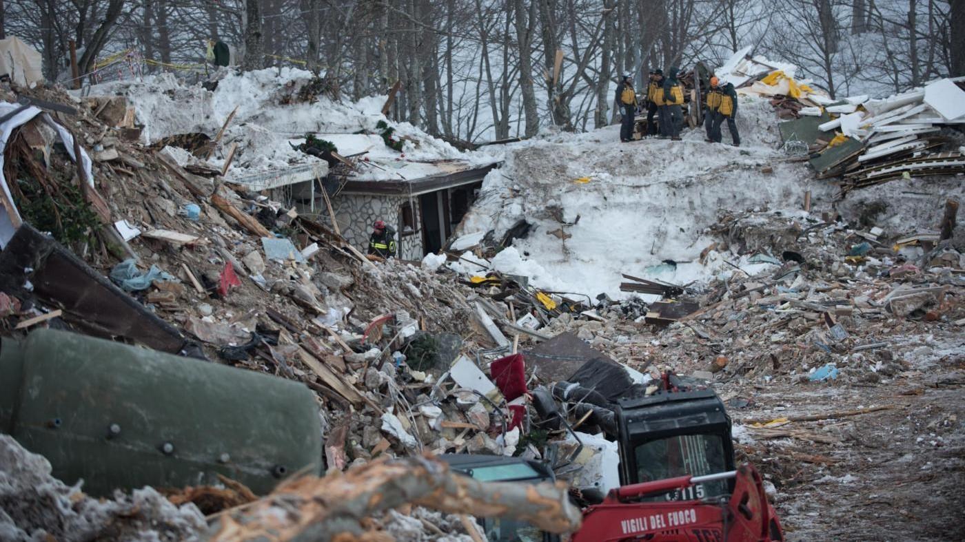 Hotel Rigopiano, una settimana dopo il disastro