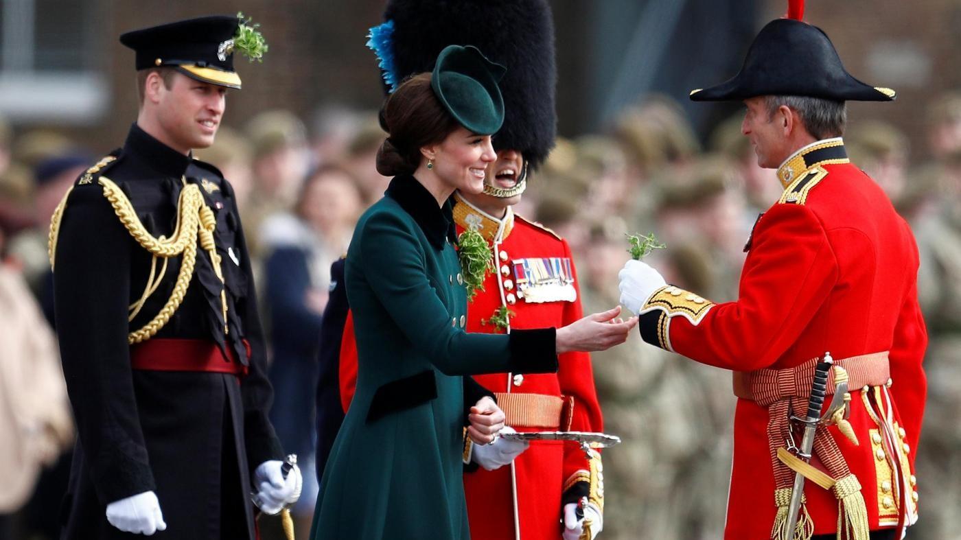 William e Kate si tingono di 'verde' per San Patrizio