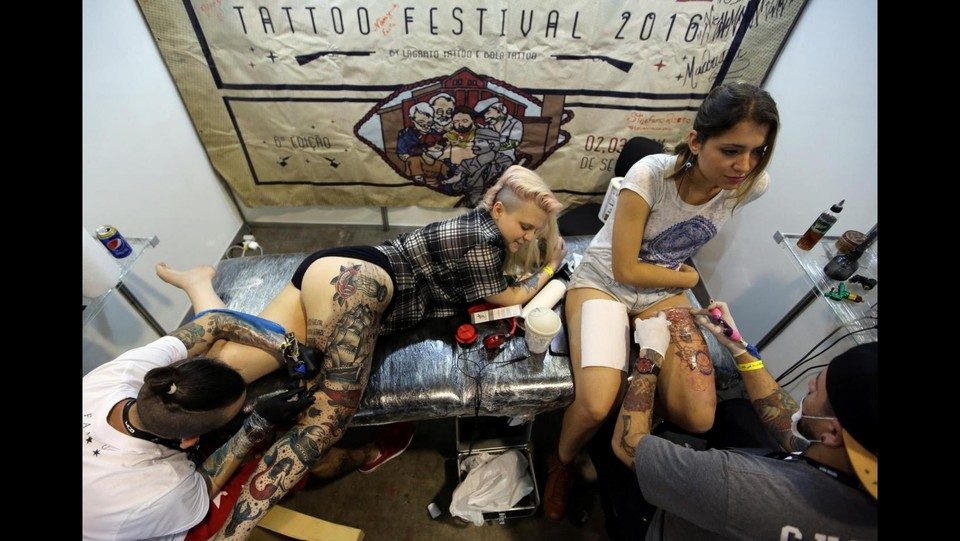 Tattoo Week 2016 a San Paolo, in Brasile ©LaPresse/Reuters