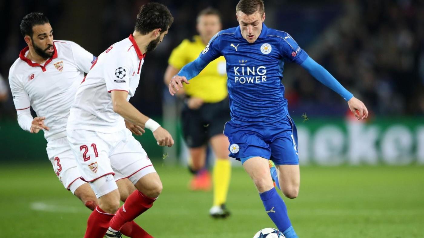 Champions, Leicester ai quarti: Siviglia battuto 2-0