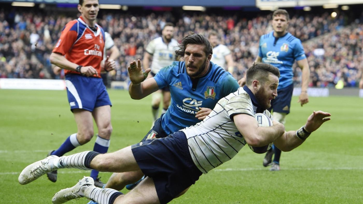 Rugby, Sei Nazioni, l'Italia perde male in Scozia 29-0