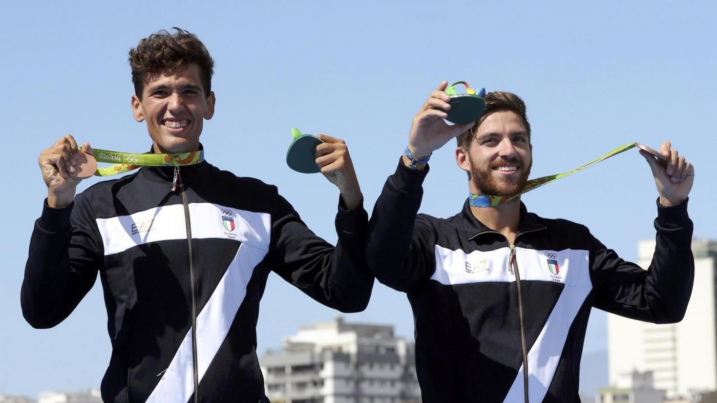 FOTO Rio, canottaggio: magico bronzo per Abagnale-Di Costanzo