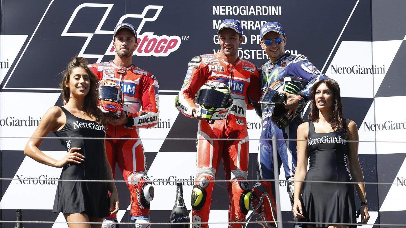 FOTO MotoGp, Ducati storica doppietta in Austria: trionfa Iannone