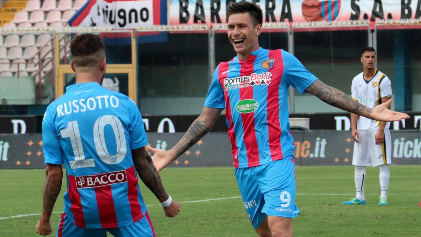 Lega Pro, Catania travolge Juve Stabia 3-1